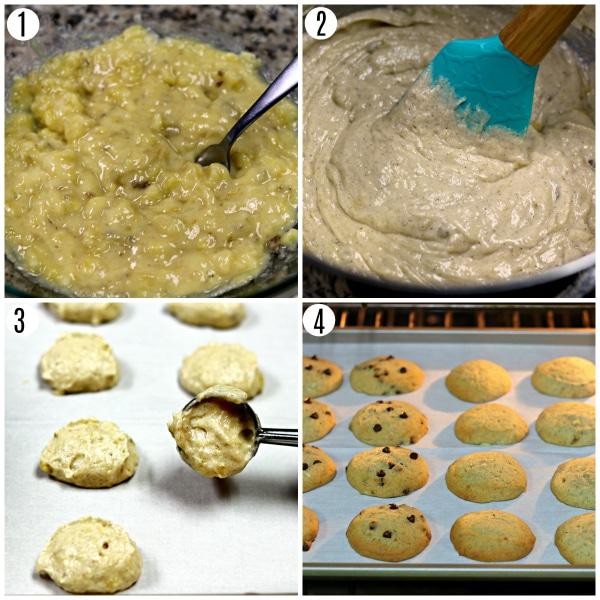 gluten-free banana bread cookie steps