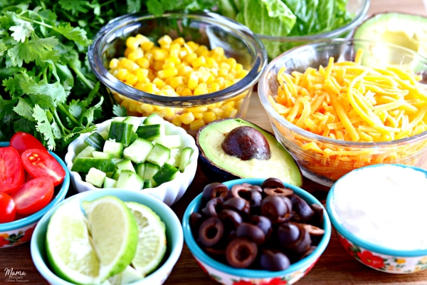 gluten-free burrito bowl toppings