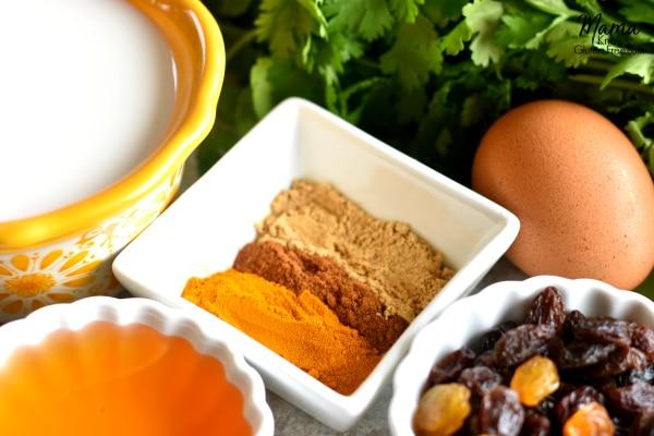 Gluten-Free Turmeric Coconut Chicken Curry recipe ingredients
