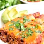 gluten-free beef and cheese enchiladas