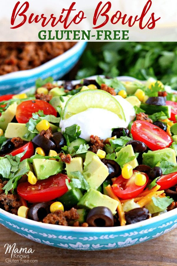 gluten-free burrito bowls
