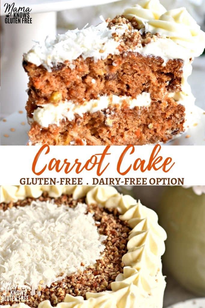 gluten-free carrot cake pinterest pin 1a