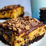 Gluten-Free Chocolate Peanut Butter Brownie Cake | www.mamaknowsglutenfree.com