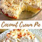 gluten-free coconut cream pie Pinterest pin 1A