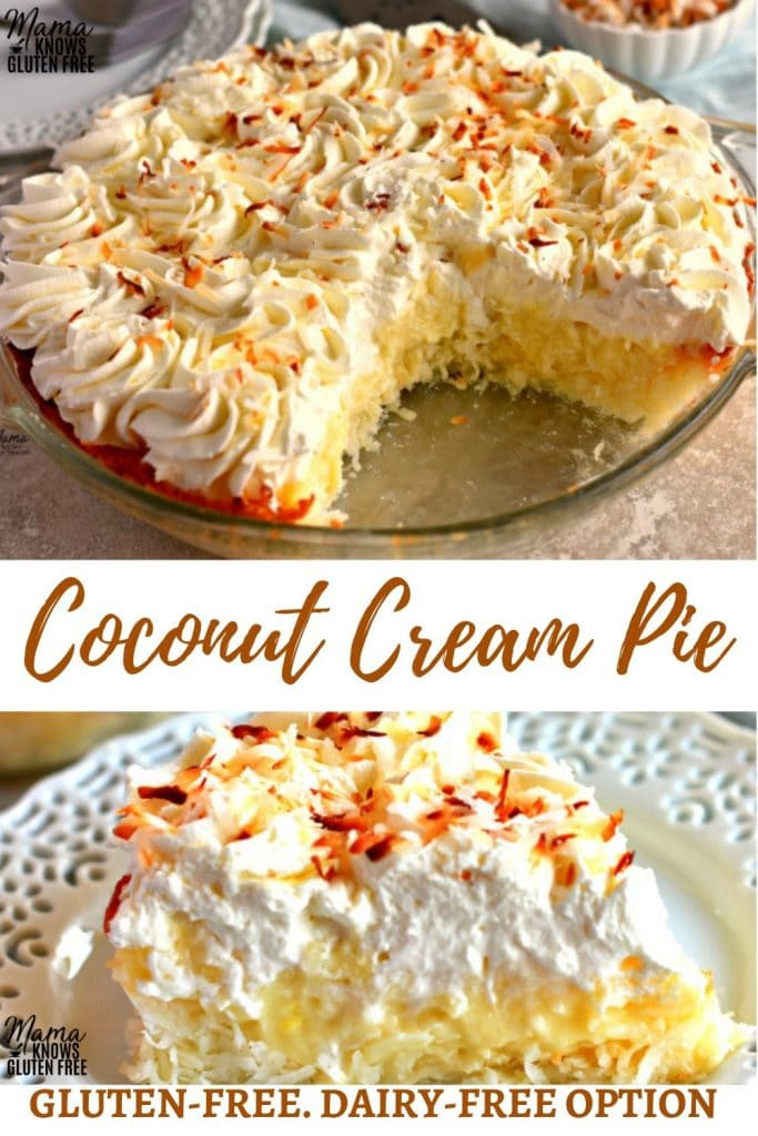 gluten-free coconut cream pie Pinterest pin 1A