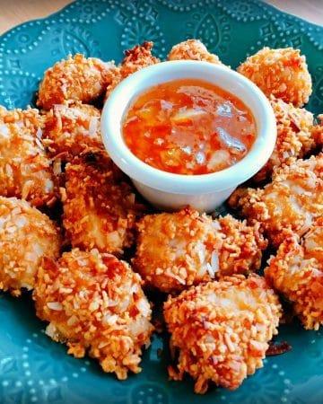 gluten-free crunchy coconut chicken bites1