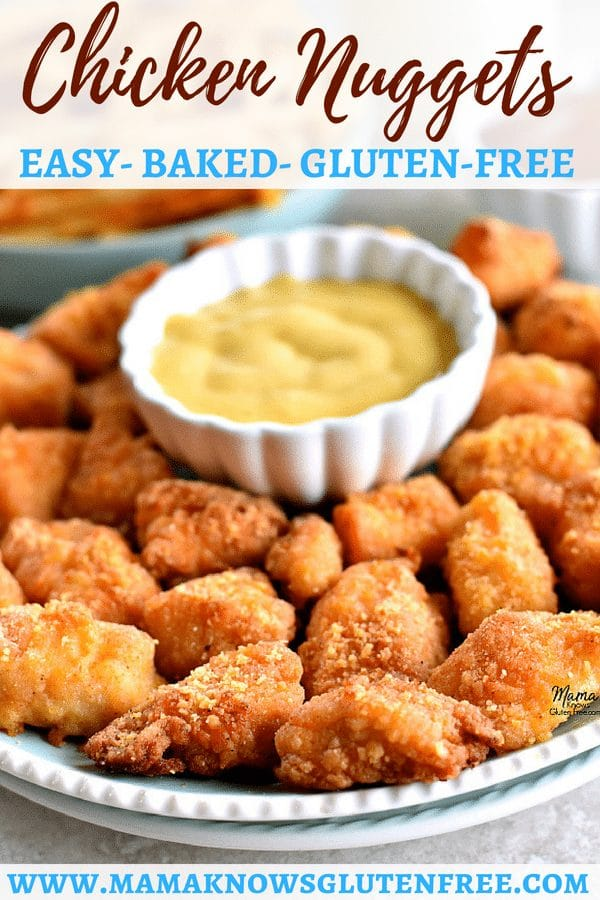 Gluten-Free Homemade Chicken Nuggets Pinterest pin