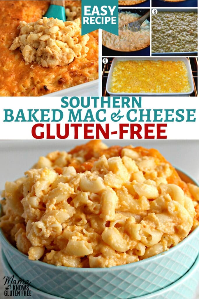 gluten-free macaroni and cheese Pinterest pin C