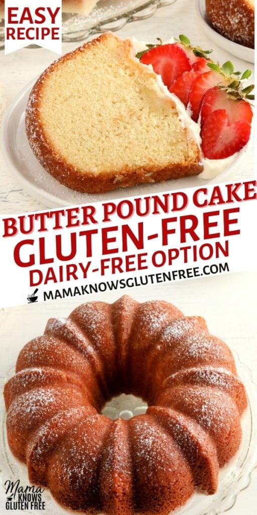 gluten-free pound cake Pinterest pin 1b
