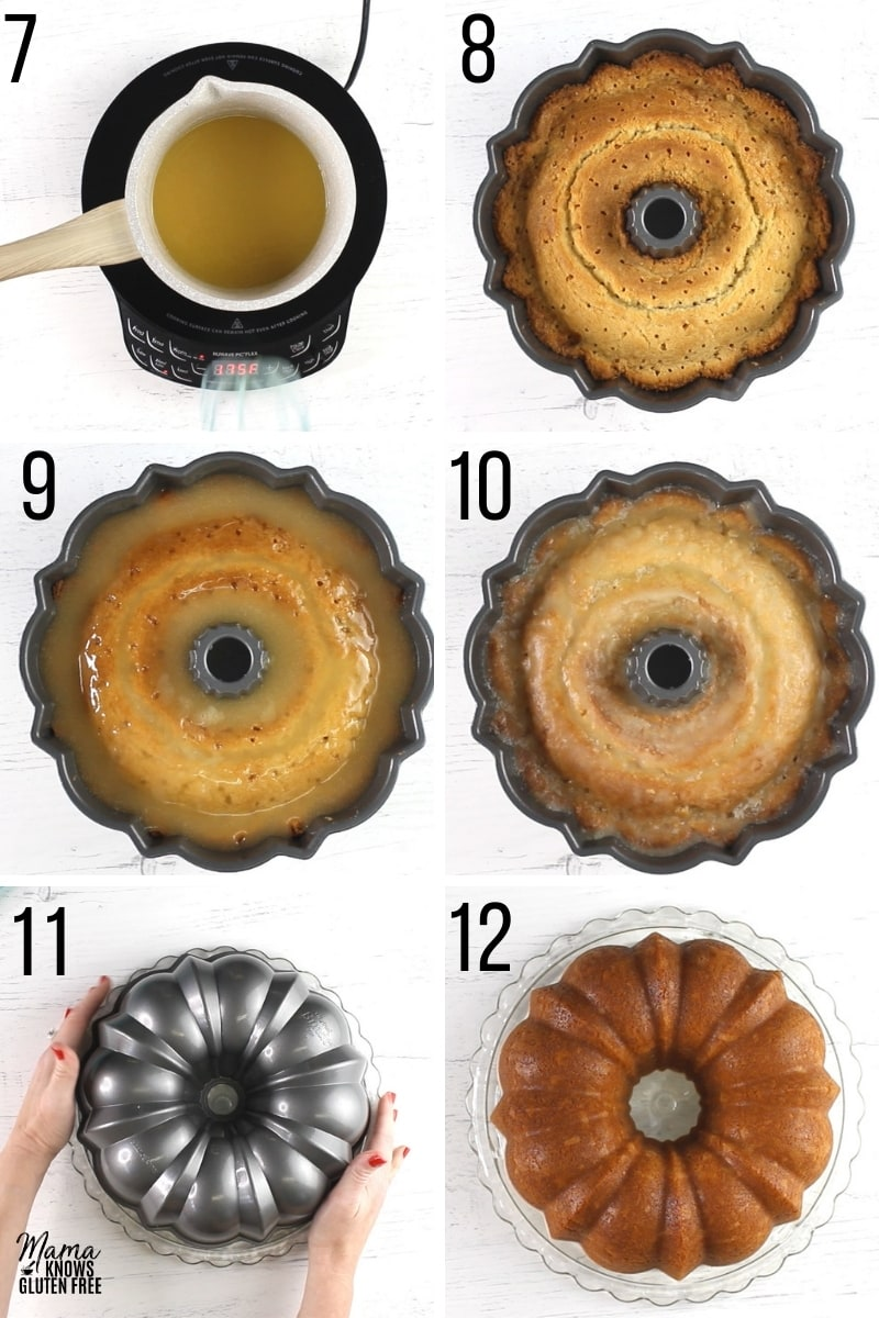 gluten-free pound cake recipe steps 7-12 photo collage