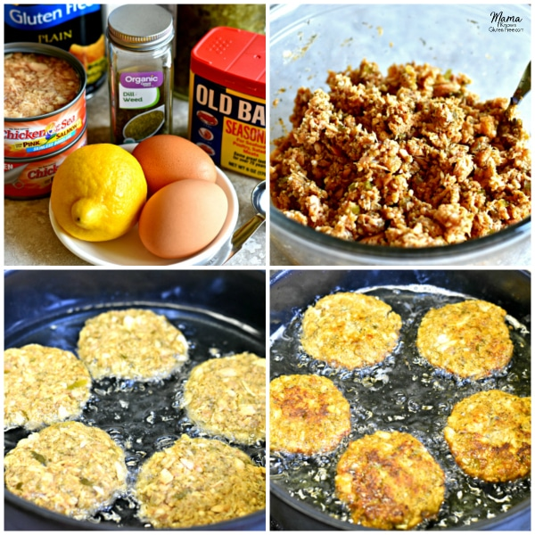 Gluten-Free Salmon Cakes Cooking Steps