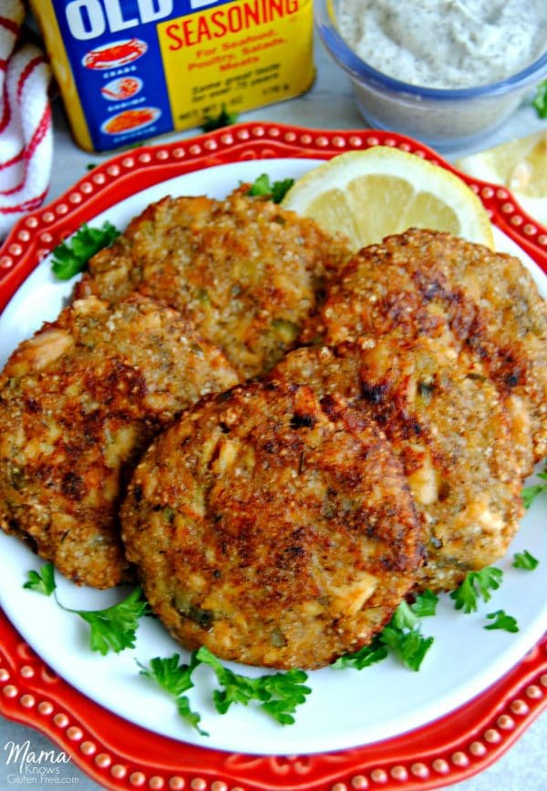 Salmon Cakes With Dill Sauce Gluten Free Paleo Option Mama Knows Gluten Free