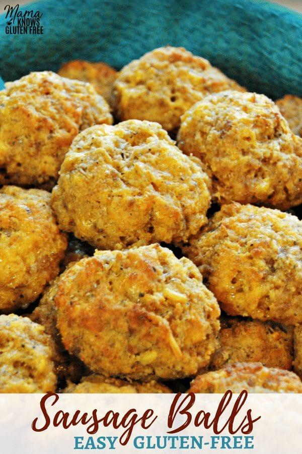 gluten-free sausage balls Pinterest pin