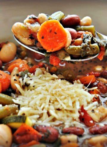 Slow-Cooker Italian Vegetable Soup {Gluten-Free, Dairy-Free}