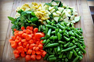 chopped vegetables steps