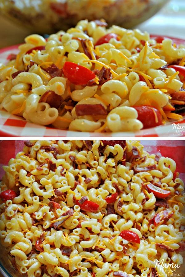 Gluten-Free Bacon, Tomato & Cheese Macaroni Salad - Mama ...