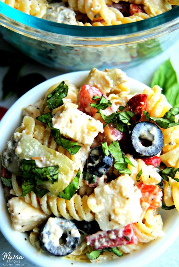 gluten-free creamy Italian pasta salad