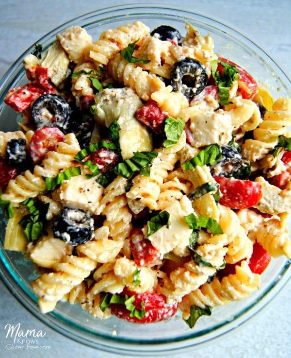 Creamy Italian Pasta Salad {Gluten-Free}