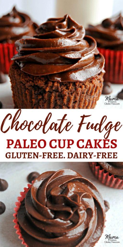 Paleo Chocolate Fudge Cupcakes