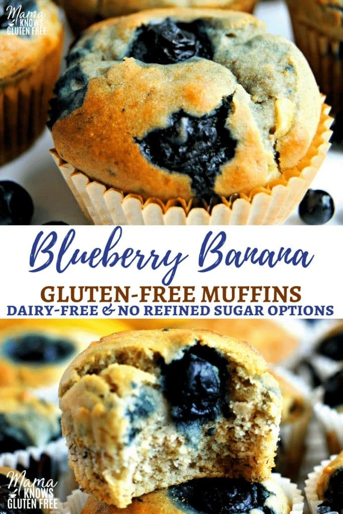 Easy Gluten-Free Blueberry Banana Muffins