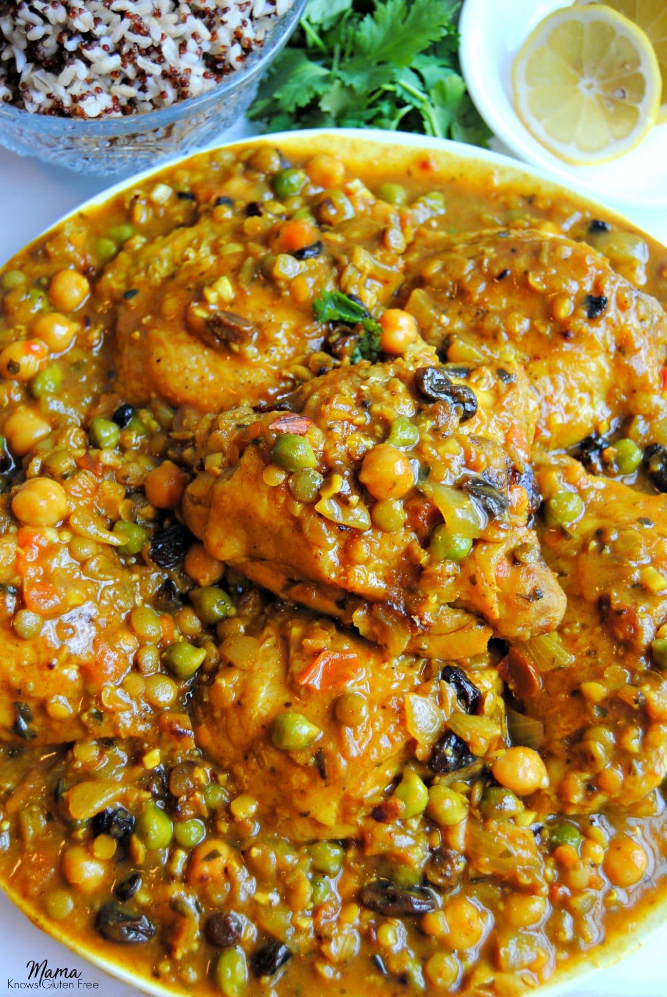 gluten-free moroccan chicken