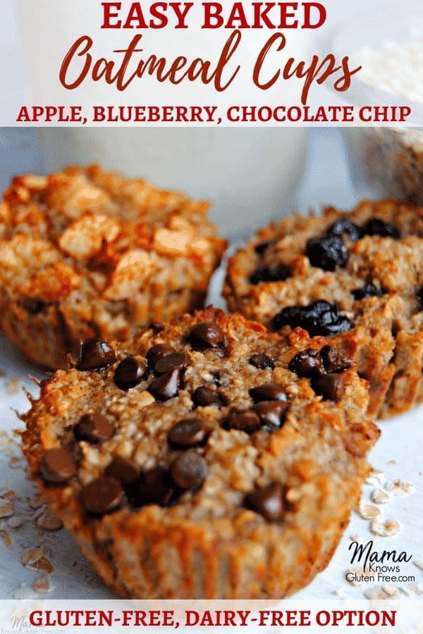 gluten-free baked oatmeal cups three ways