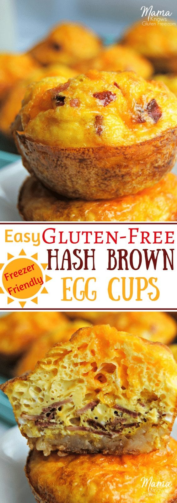gluten-free hash brown egg cups Pinterest pin