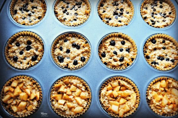 gluten-free baked oatmeal cups 3 ways