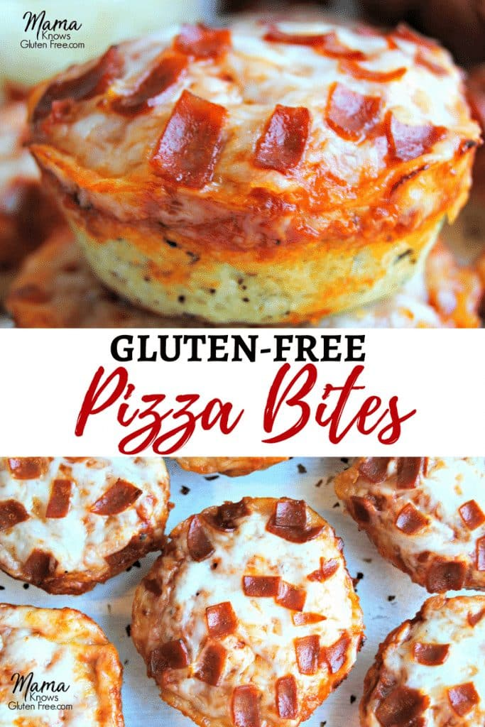 gluten-free pizza bites Pinterest pin