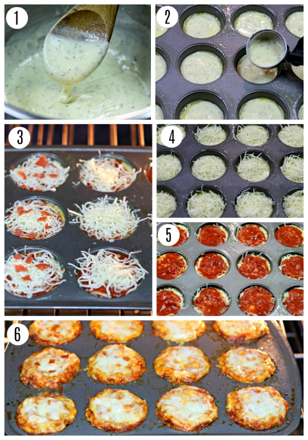 gluten-free pizza bites recipe steps 1-6