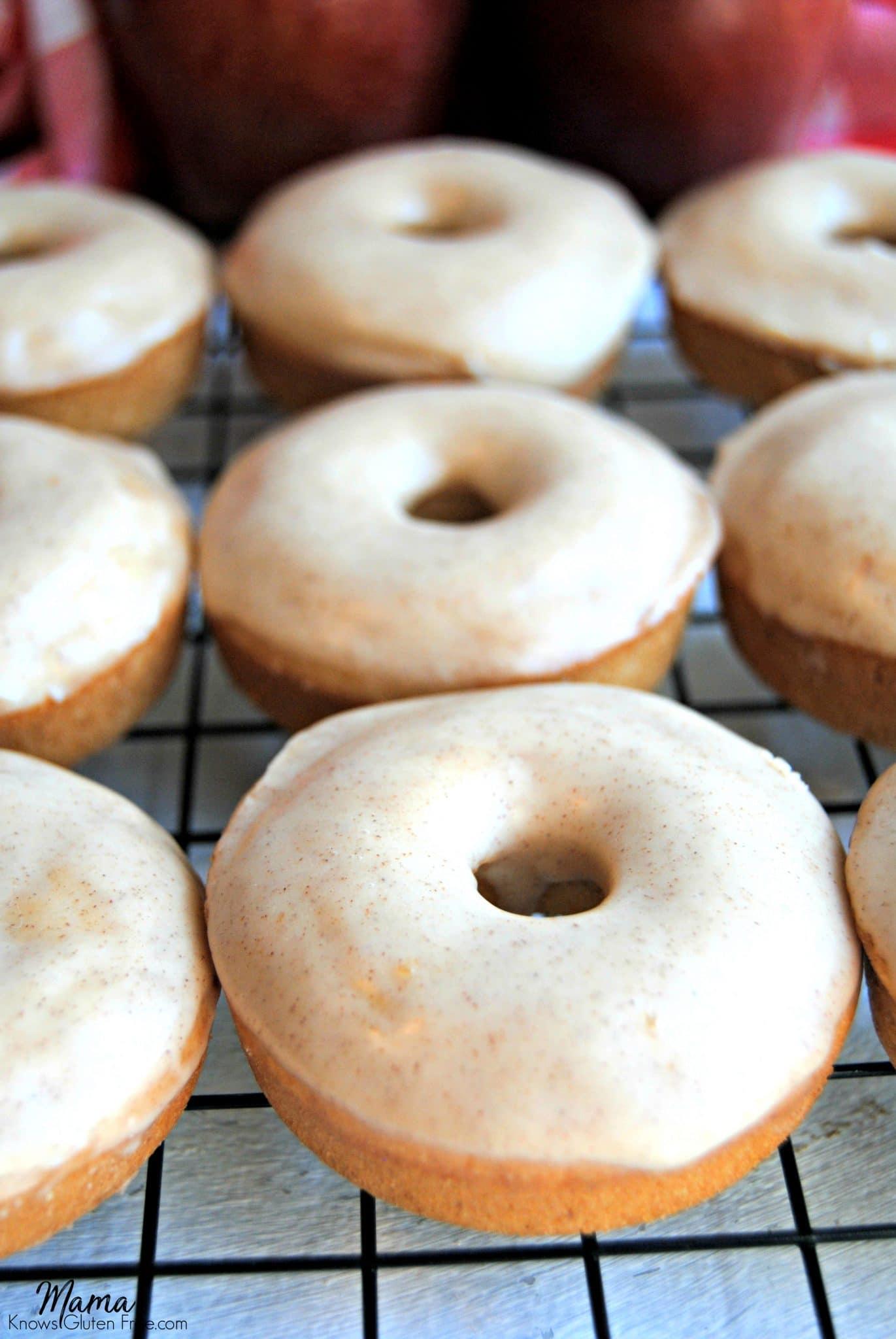 gluten-free baked apple cinnamon donuts