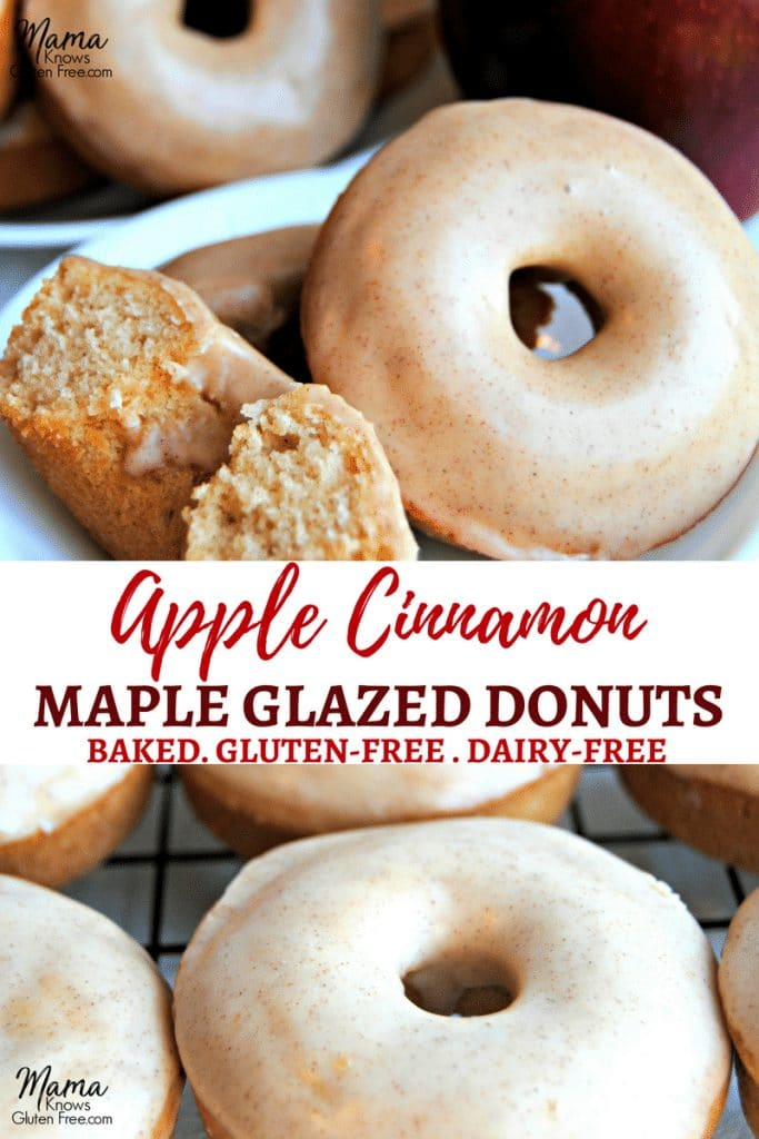 gluten-free apple cinnamon donuts