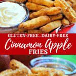 gluten-free cinnamon apple fries