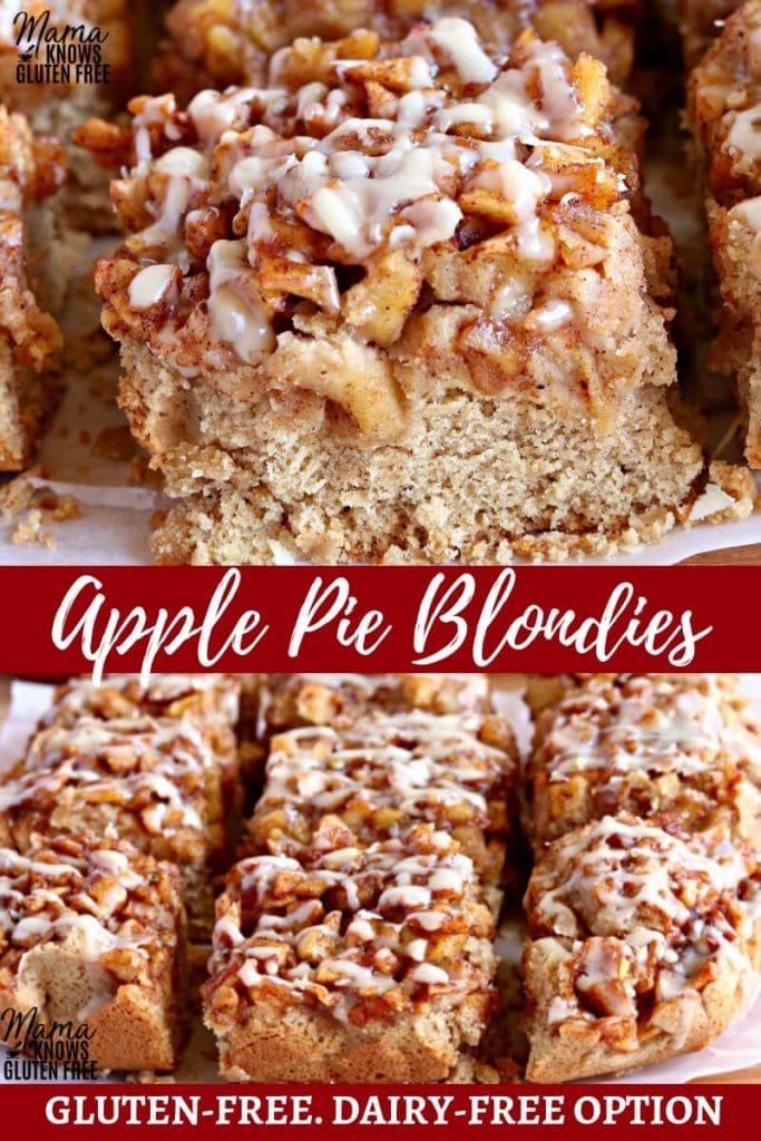 gluten-free apple pie blondies Pinterest pin 2