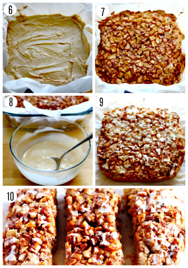 gluten-free apple pie blondies recipes steps photos 6-10