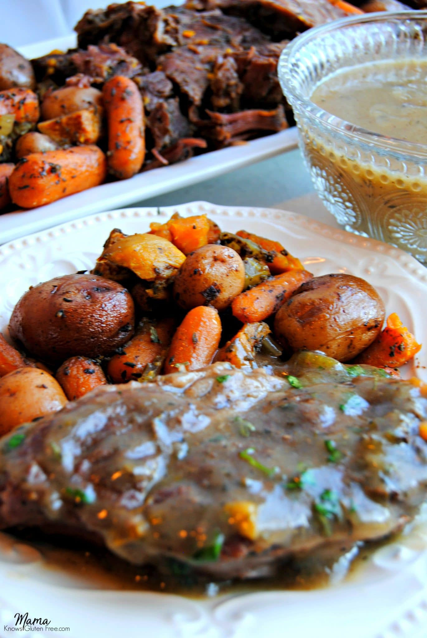Slow-Cooker Savory Pot Roast with Gravy