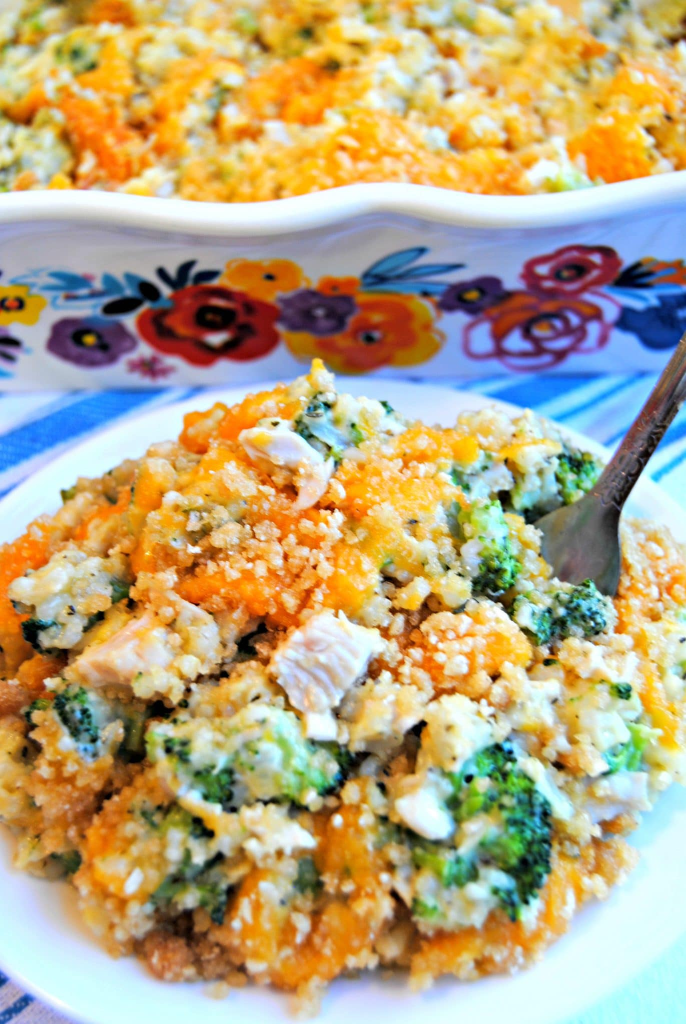gluten-free cheesy broccoli chicken and rice casserole