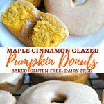 gluten-free baked pumpkin donuts