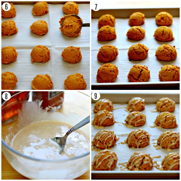 gluten-free pumpkin bread cookies steps 6-9
