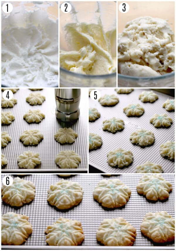 gluten-free almond spritz cookies recipe steps 1-6