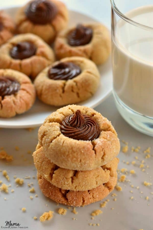 Gluten-Free Soy Butter Thumbprint Cookies