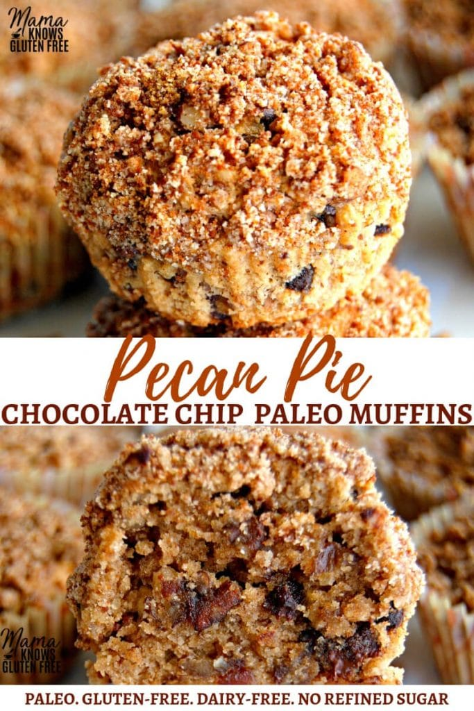 Paleo pecan pie chocolate chip muffins Pinterest Pin