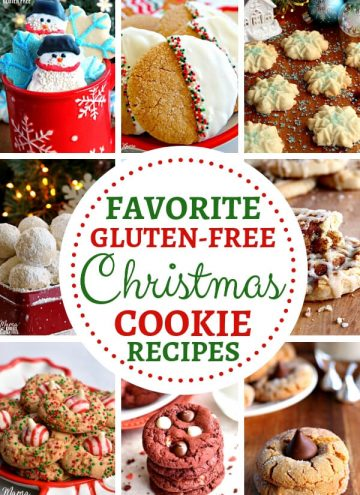 A collage of gluten-free Christmas cookies
