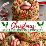 gluten-free Christmas Sugar Blossoms Cookies