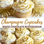 gluten-free champagne cupcakes