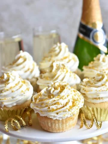 Gluten-Free Champagne Cupcakes with White Chocolate Buttercream