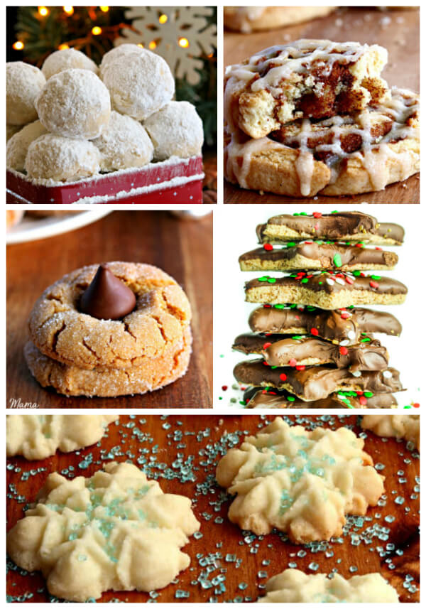 a collection of classic gluten-free Christmas cookies