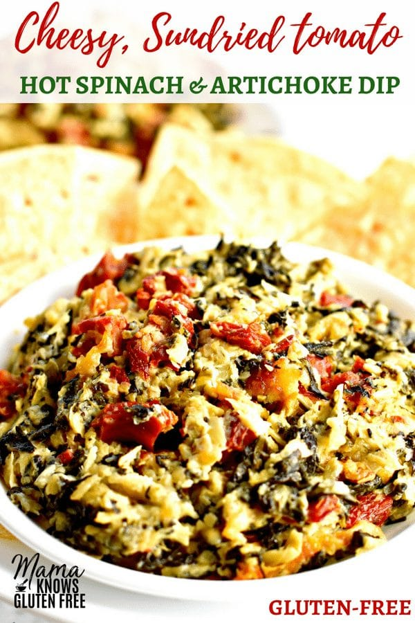 gluten-free hot spinach dip