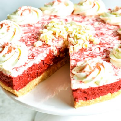 Gluten-Free Red Velvet No-Bake Cheesecake