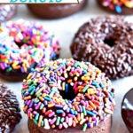 gluten-free chocolate donuts Pinterest pin